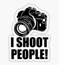 I Shoot People T-Shirt Funny Photographer TEE Camera Photography Digital Photo Sticker