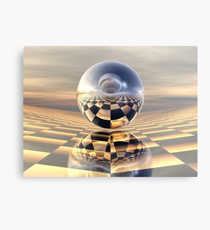 Double Inclined Plane with Spheres Canvas Print