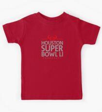 Super Bowl LI 2017 horns blk Kids Tee