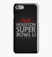 Super Bowl LI 2017 horns blk iPhone Case/Skin