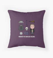 Property of Sherlock Holmes (pillow or bag) Throw Pillow