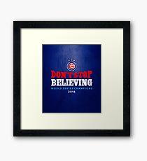 Chicago Cubs Believing Framed Print