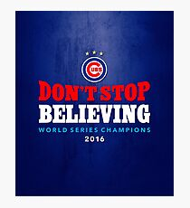 Chicago Cubs Believing Photographic Print
