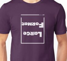 Large Format White Text Unisex T-Shirt