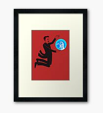 Tesla and the Pigeon Framed Print