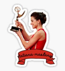 tatiana maslany with her emmy Sticker