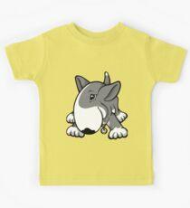 Let's Play English Bull Terrier Grey  Kids Tee