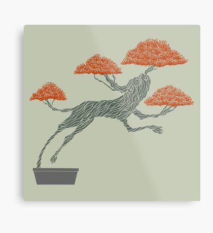 Bonsai Lion Escapes Metal Print