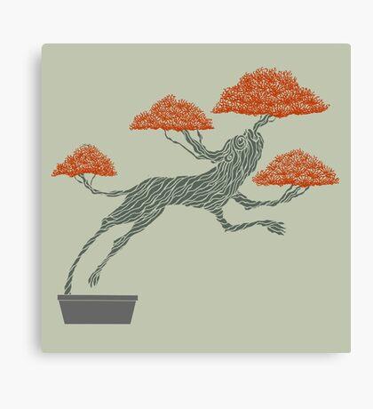 Bonsai Lion Escapes Canvas Print