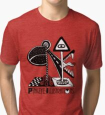Pinkeye Illustrations - BE THE AD Tri-blend T-Shirt