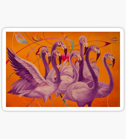 Purple Flamingo Sticker