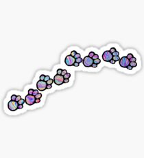 Marble paw print Sticker