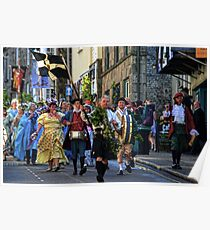 With Whistles And Shouts Here They Come -Helston Cornwall UK Poster