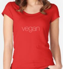 Vegan! tell the world Women's Fitted Scoop T-Shirt