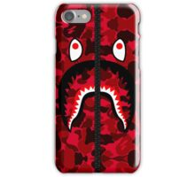 Camouflage Red Shark Hoodie iPhone Case/Skin