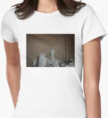 Lincoln Memorial  Womens Fitted T-Shirt