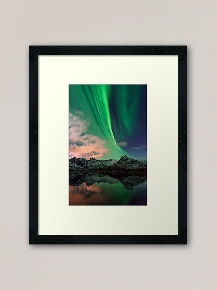 Alternate view of Aurora Borealis - Svolvaer, Norway Framed Art Print