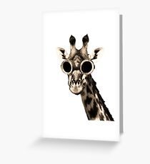 Giraffe With Steampunk Sunglasses Goggles Greeting Card
