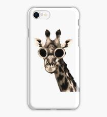 Giraffe With Steampunk Sunglasses Goggles iPhone Case/Skin