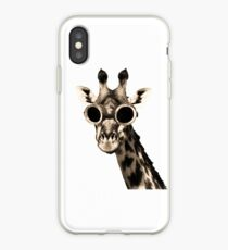 Giraffe With Steampunk Sunglasses Goggles iPhone Case