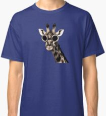 Giraffe With Steampunk Sunglasses Goggles Classic T-Shirt