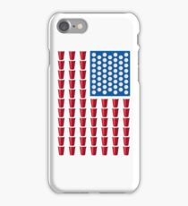 Beer Pong Drinking Game American Flag iPhone Case/Skin