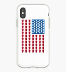 Beer Pong Drinking Game American Flag iPhone Case