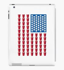 Beer Pong Drinking Game American Flag iPad Case/Skin