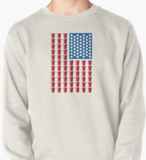 Beer Pong Drinking Game American Flag Pullover