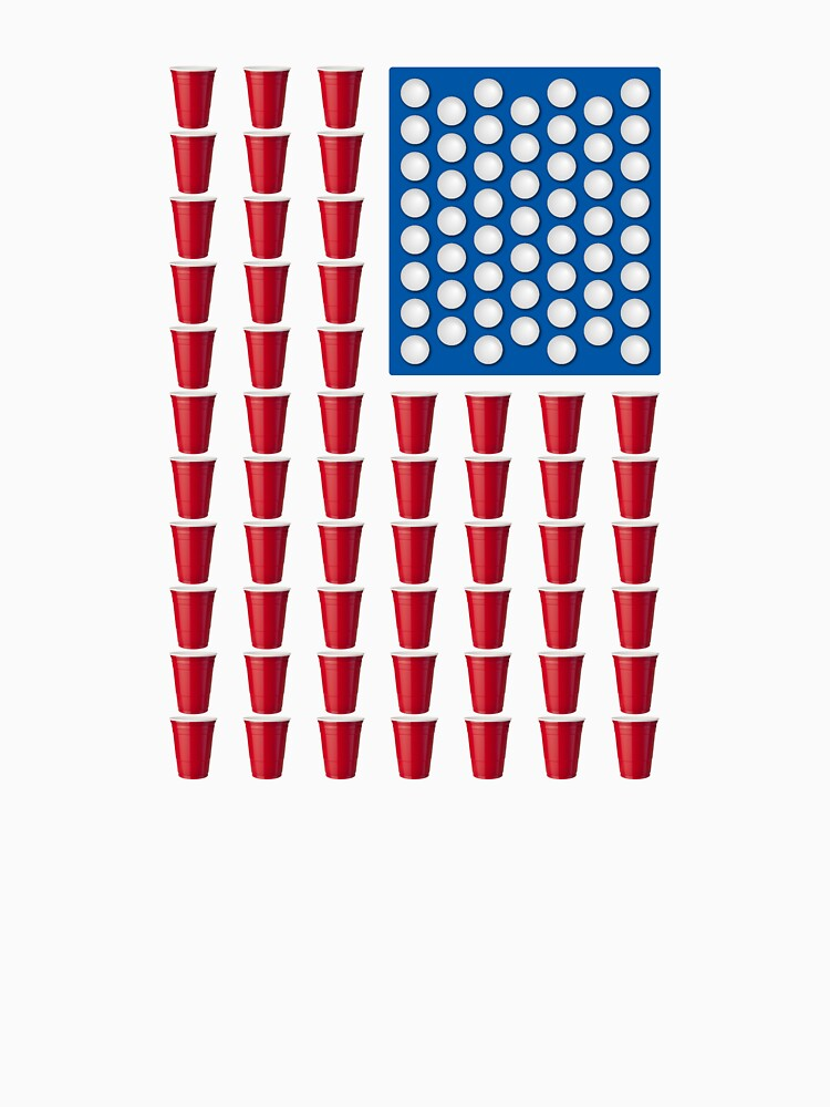 Beer Pong Drinking Game American Flag von TheShirtYurt