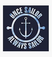 Once sailor (sky) Photographic Print