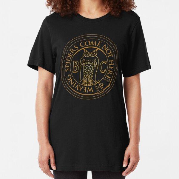 Bohemian Grove Owl - Golden Slim Fit T-Shirt