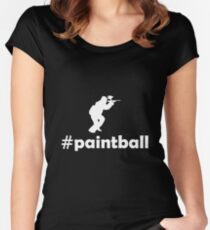 PAINTBALL Women's Fitted Scoop T-Shirt