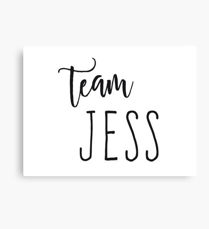 Team Jess Canvas Print