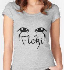 vikings floki art Women's Fitted Scoop T-Shirt