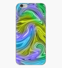 Marbled Blue Green iPhone Case