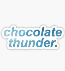 Schokoladen Donner. Sticker