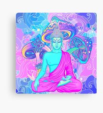 Trippy Buddha Canvas Print