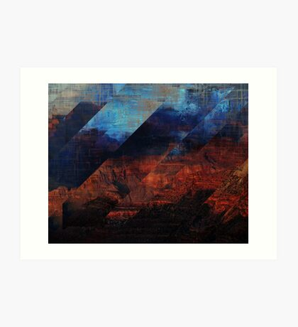 Deconstructing Time Altered Landscapes Grand Canyon Art Print