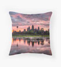 HDR Angkor Wat Sunrise Throw Pillow