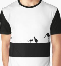 Kangaroos silhouettes at Sunset Graphic T-Shirt