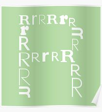 Found Letters - R Poster