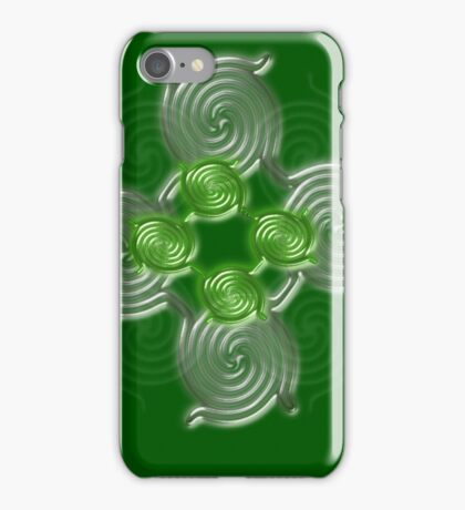 Green Abstract  pattern  3145 Views) iPhone Case/Skin