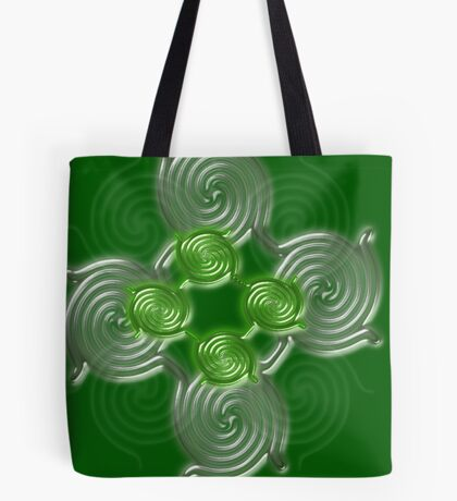 Green Abstract  pattern  3145 Views) Tote Bag