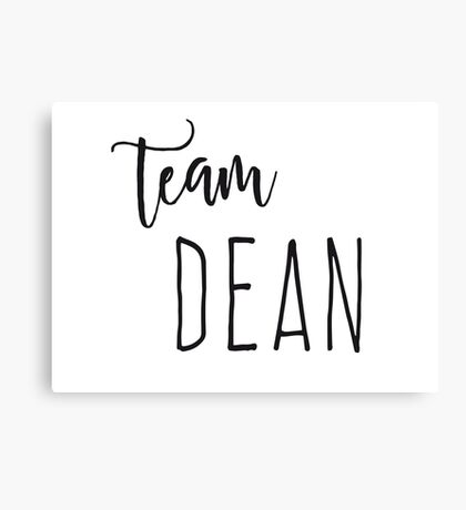 Team Dean Canvas Print