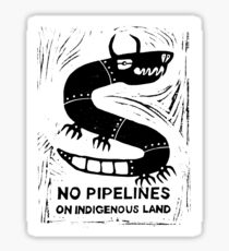 No Pipelines! Indigenous People  Sticker