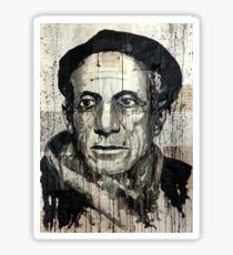old book drawing famous people picasso bablo Sticker