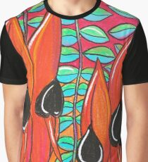 Pasels - Sturt Pea & Leaf  Graphic T-Shirt