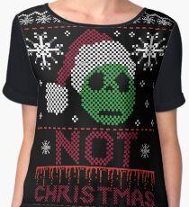 Not Christmas  Women's Chiffon Top