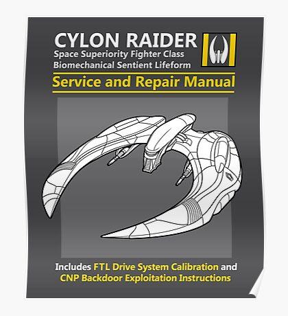 Cylon Raider Service and Repair Manual Poster